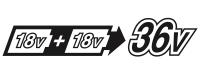18V x 2Battery